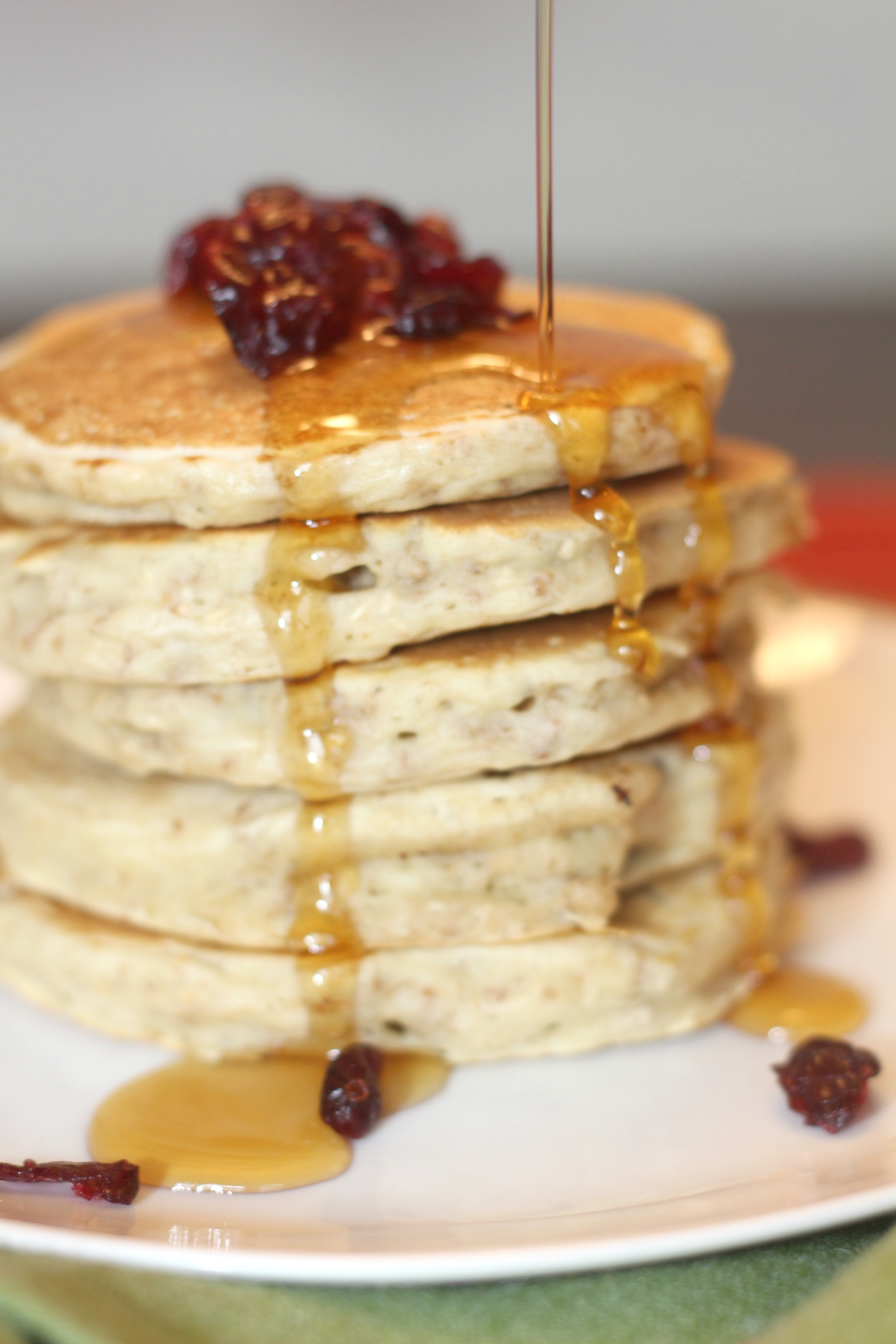 Crunchy oatmeal cranberry pancakes 11