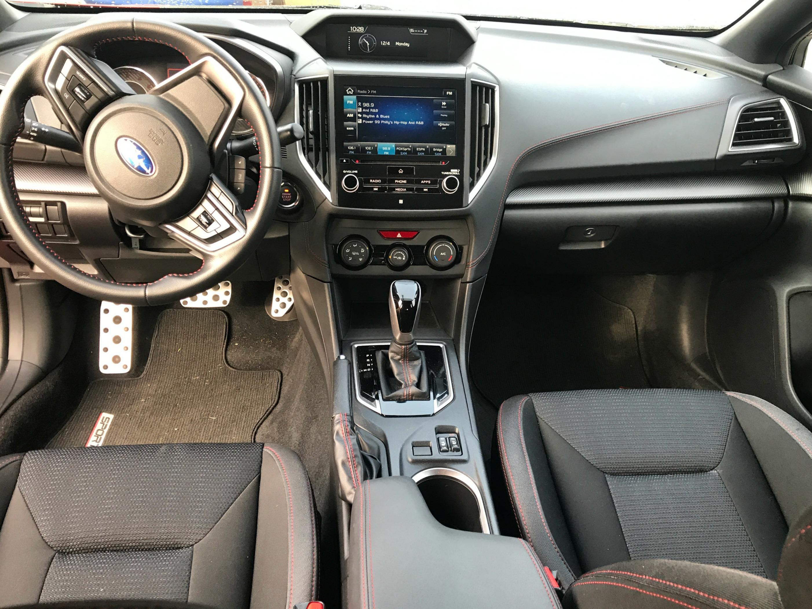 Grey 2017 Impreza AWD sedan interior dashboard