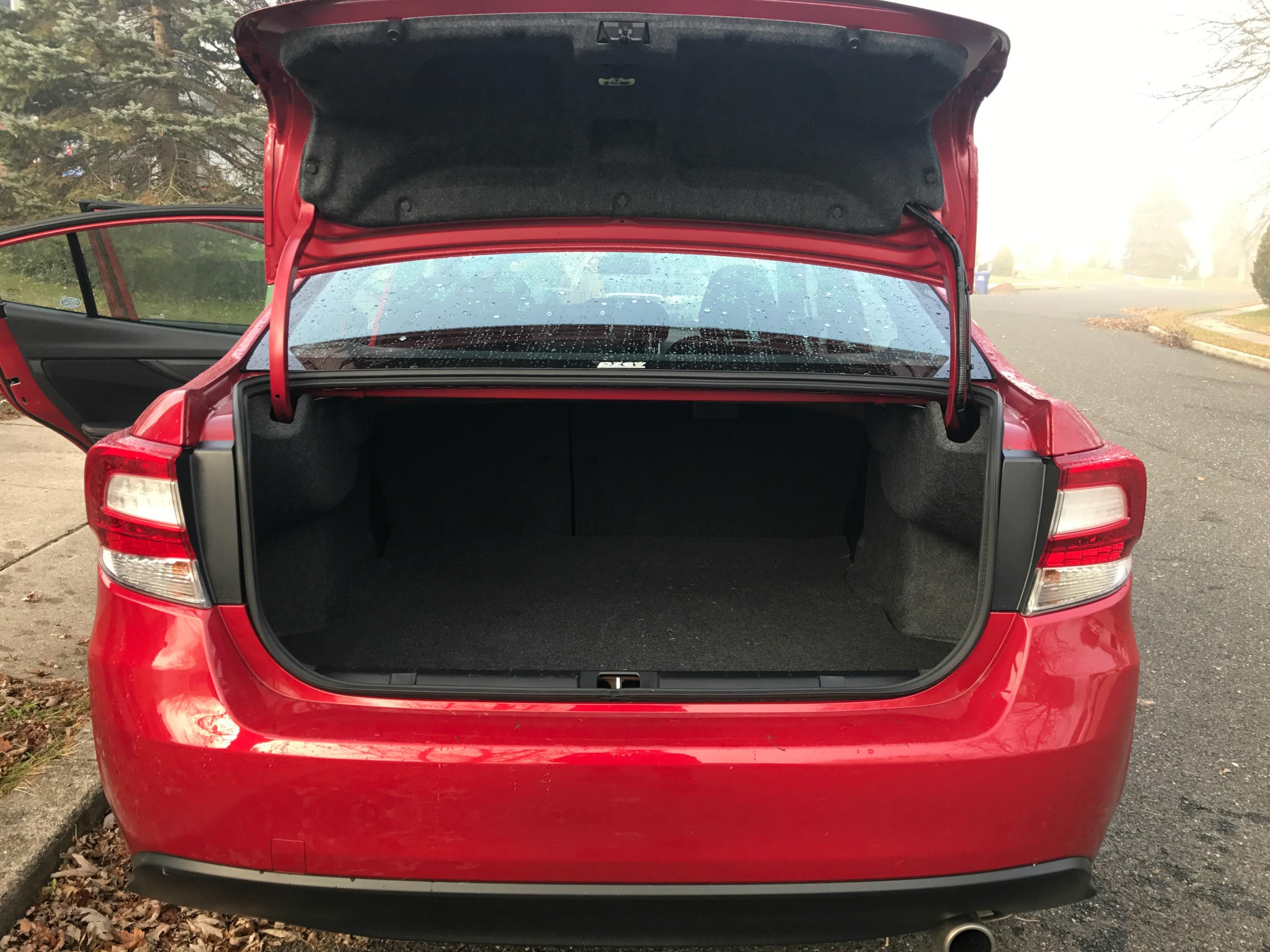 2017 Subaru Impreza trunk space